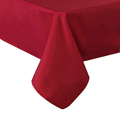 - SUO AI TEXTILE Modern Solid Oxford Tablecloths Square Water Resistant Tablecloth for Picnics 54 by 54 Inch Red