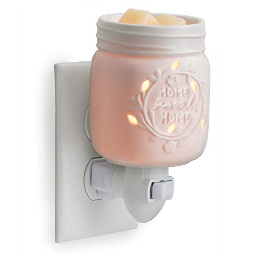 CANDLE WARMERS ETC Pluggable Fragrance Warmer- Decorative Plug-in for Warming Scented Candle Wax Melts and Tarts or Essential Oils, Mason ()