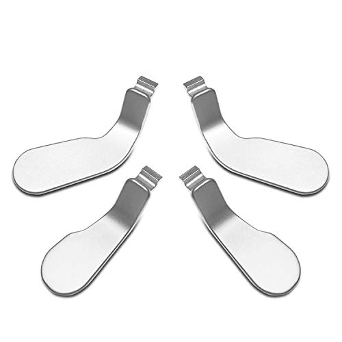 720 Steel Lock - Quartet trade 4 pcs Metal Aluminum alloy Paddles Hair Trigger Locks Replacement Parts Video Games Accessories Kits for Xbox One Elite Controller