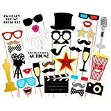 EBTOYS Hollywood Photo Booth Props 33 DIY Kits Paper Movie Photo Props on a -