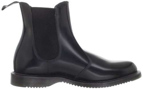 Flora Chelsea Polished Femme Black Dr Bottes Martens Smooth ZwCWfAOOq5
