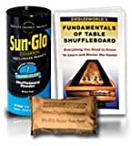 1 Can SunGlo Table Shuffleboard Speed #1 Super-Glide Shuffleboard Table Powder Wax + Talc + Shuffleboard Booklet