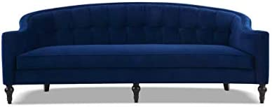 Jennifer Taylor Home Stewart Curved Back Sofa, Navy Blue