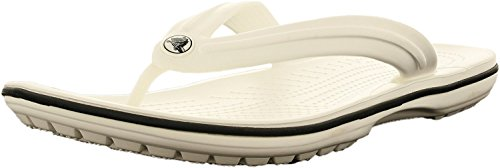 Flip flops Adults' Crocband Crocs White Unisex qaHSx7