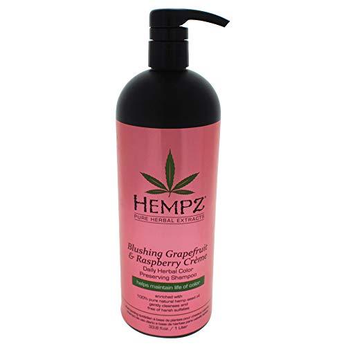 Hempz Hempz blushing grapefruit & raspberry creme color preserving herbal shampoo, 33.8 fluid ounce, 33.8 Ounce