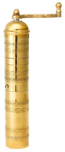 Dot Mill Imports Traditional Coffee/Spice Mill, Brass, 11""