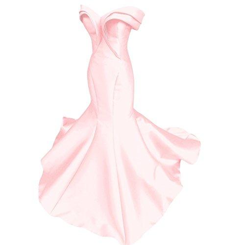 Dmdrs Robes De Soirée Drapée En Satin De Sirène Chérie Longue De Rose Robe De Soirée Des Femmes