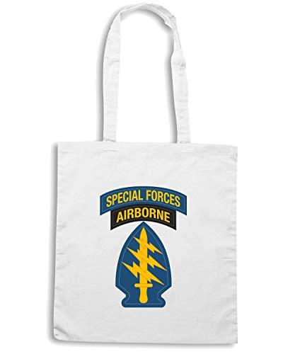Speed Shirt Borsa Shopper Bianca TM0393 U S ARMY SPECIAL FORCES USA