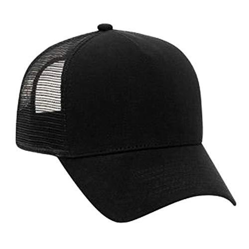 Cotton Flannel Trucker Hat with Adjustable Mesh Back Justin Bieber Solid Black Baseball Caps,Black