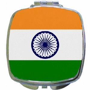 India Flag Mirror Compact