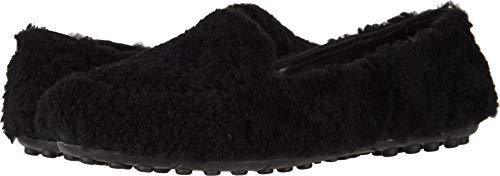 UGG Women's Hailey Fluff Loafer Black 7 B US B (M)