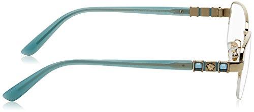 Versace Montures de lunettes Pour Femme 1230B - 1362: Pale Gold - 52mm