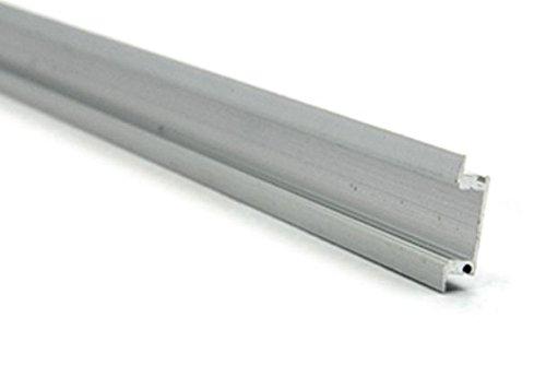 4*1m Perfil aluminio tira led empotrar tapa redondeada trasl/úcida 24,5x17,5mm Jandei