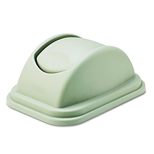 Rubbermaid Commercial FG306700BEIG Untouchable Polypropylene Top for Large Trash Cans, ()