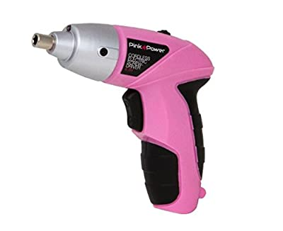 Pink Power PP481 4.8V Cordless Electric Screwdriver Kit for Women with Charger and Bit Set