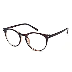 Outray Vintage Inspired Small Nails Round Clear Lens Glasses 2169c2 Brown