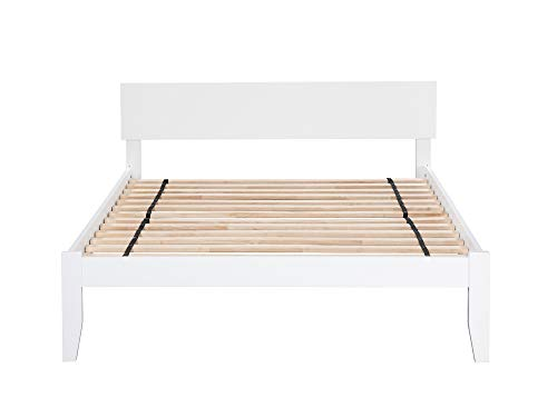 Atlantic Furniture AR8141002 Orlando Platform Bed with Open Foot Board, Queen, White Domain Low Profile Bed
