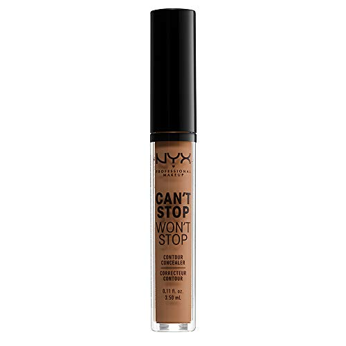 Nyx Professional Makeup Can't Stop Won't Stop Contour Concealer, Mahogany, 0.11 Ounce