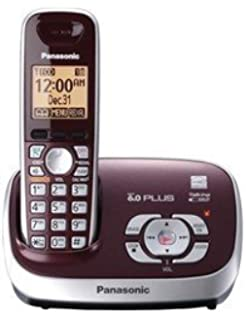 Panasonic KX-TG6571R DECT 6.0 Cordless Phone with Answering System, , 1 Handset Wine