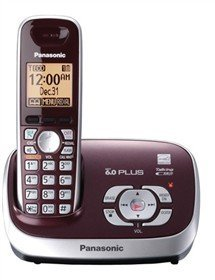 Panasonic KX-TG6571R DECT 6.0 Cordless Phone with Answering System, , 1 Handset Wine Red (Certified Refurbished)