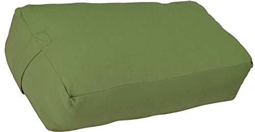 YogaDirect Supportive Rectangular Cotton Yoga Bolster, Sage