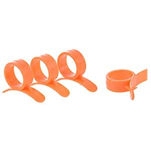 TOOGOO(R) Set of 4 Round Orange Peelers, a Simple and Practical Way to Peel Oranges
