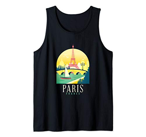 Paris Souvenirs from France for Kids Eiffel Tower Gifts Men Tank Top