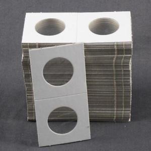 100 1.5×1.5 Cardboard Coin Holders HALF DOLLARS