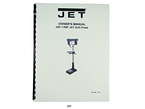 jet jdp 17mf drill press owners manual jet amazon com books rh amazon com JDP-17MF Drill Press JDP-17MF Drill Press