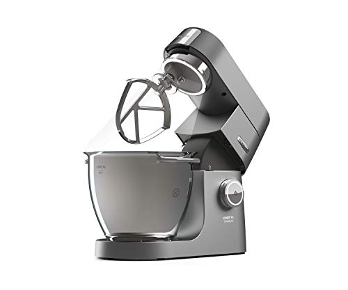 Kenwood Chef Titanium XL Kitchen Machine, 6.7 Litre, 1700W, Silver, KVL8472S
