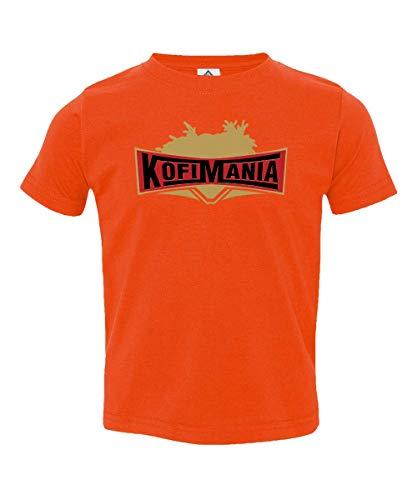 Kofi Kingston Wrestlemania KofiMania Little Kids Unisex Toddler T-Shirt (Orange, -