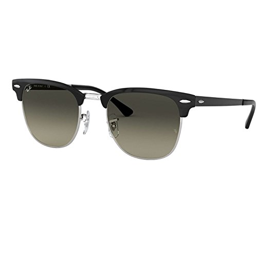 Ray-Ban Metal Unisex Square Sunglasses, Silver Top Black, 50 - Style Ban Ray