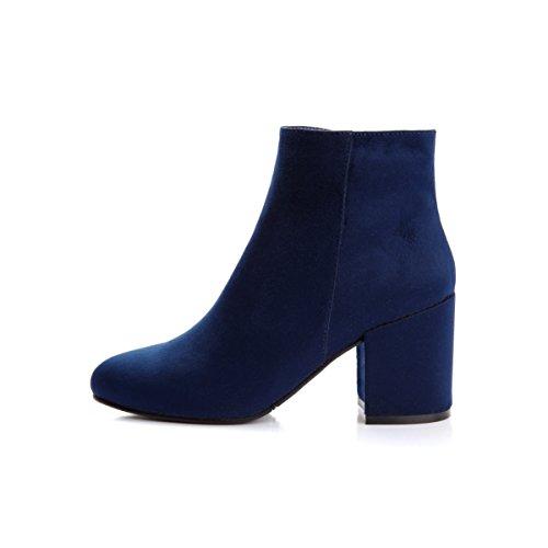 DFRNT Women's Jade Statement-Making Block Heel Ankle Boots (6 US - 36 EU, (Block Heel Ankle Boots)