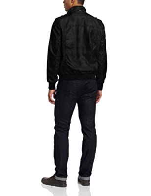 Calvin Klein Men's Faux Leather Bomber Coat