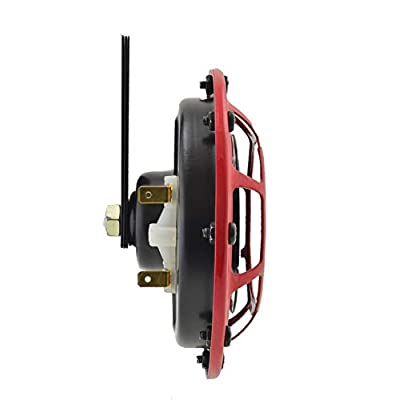 HELLA 003399801 Supertone 12V High Tone / Low Tone Twin Horn Kit with Red Protective Grill, 2 Horns (3AG 003 399-801): Automotive