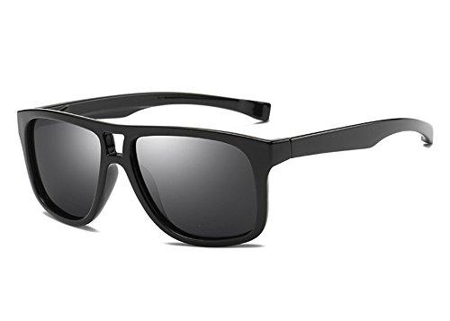 pour miroir unisexe lunettes polarisé les Marque de TL Lunettes lunettes Guide Mode Sunglasses Lunettes gray de Homme black hommes revêtement femmes xn0gxZX