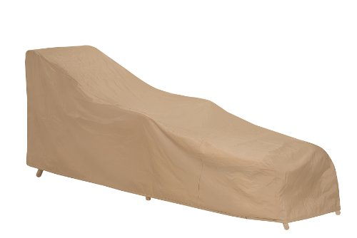 PROTECTIVE COVERS INC Chaise Cover, Tan Vinyl, 78' Long, 27' Wide, 18' - 30' Slope