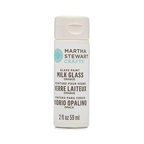 Martha Stewart Opaque Glass Paint: Milk White, 2 oz - Opaque Milk Glass