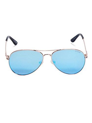 GUESS Women's Rose-Gold Tone Aviator - Guess Glasses Sun