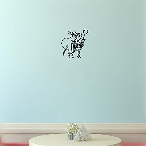 polua Vinyl Decal Quote Art Wall Sticker Inspirational Quotes Joke Funny Zebra Animals for Kidsinches ()