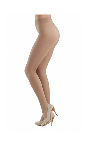 Conte Prestige Women's Silky Sheer Matte Pantyhose Tights 12 Denier - Nude, - Waist Nudes To Sheer