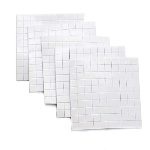 IDS 40 Sheets, Total 4000 Pieces Square Dual Adhesive Foam Mounts Scrapbook Adhesives 3D Foam Squares Small Double Sided Adhesive Foam Dots Crafting ()
