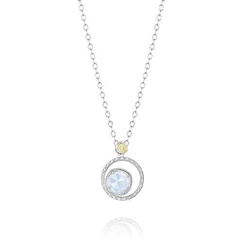 (Tacori SN14103 Classic Rock Sterling Silver Chalcedony Bloom Necklace,)