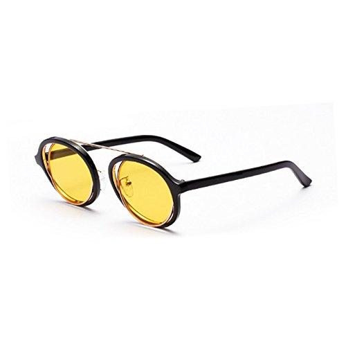 Calidad Sexy Sol De Vintage Gafas Gafas Ronda G TIANLIANG04 Señoras Ronda C4 Tonos Lente Alta Claro Yellow Mujeres Transparente Uv419 De De C3 Sol Gafas qZw4w5PI