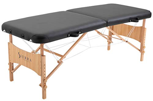 SierraComfort Basic Portable Massage Table, Black ()