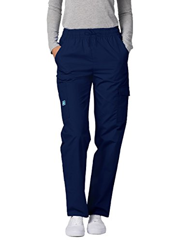 Adar Universal Natural-Rise Multipocket Cargo Tapered Leg Pants - 506 - Navy - M by ADAR UNIFORMS