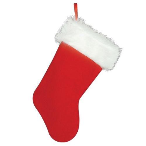 Plush Christmas Stocking Party Accessory (1 count) (1/Pkg) (Flush Teddy Bear)