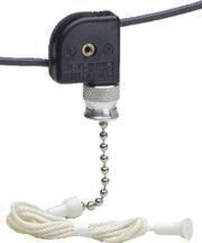 1A-125V T 3A-125V Single Pole On-Off 1A-250V Leviton 10097-10 Pull Chain Switch