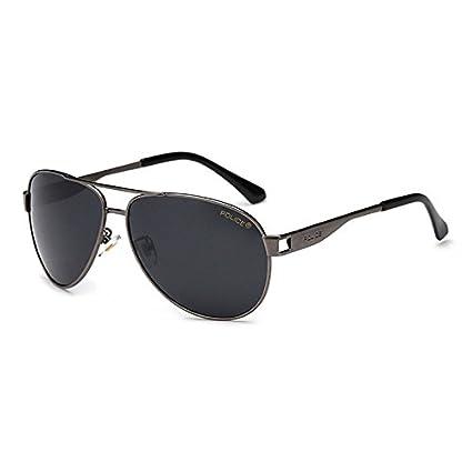 Kicode Gris De los Hombres Gafas de Sol de la policía Gafas de Sapo Deportes al Aire Libre Conducción