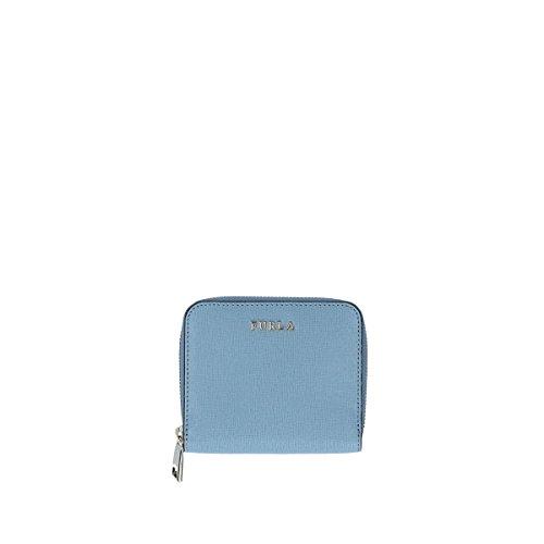 Furla Babylon Woman Wallet S Zip Around light blue